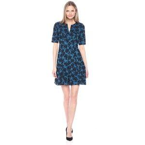 Julian Taylor Floral Printed Dress Blue Size 14